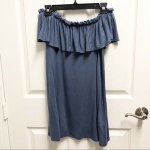 Abercrombie & Fitch Ruffle Off-The-Shoulder Dress